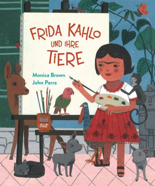 <span style='color: #3c3c3c;'>Monica Brown / John Parra</span> <br><span style='font-style: italic; font-weight: bold;'>Frida Kahlo und ihre Tiere</span>
